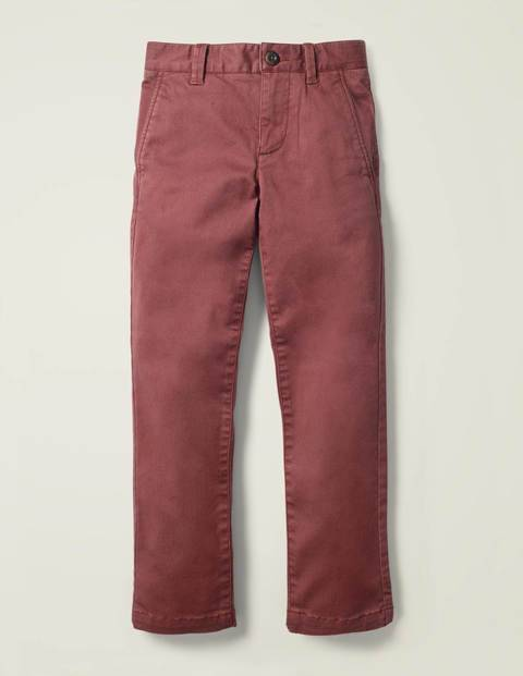 Mini Chino Stretch Trousers Brown Boys Boden  Size: 15y