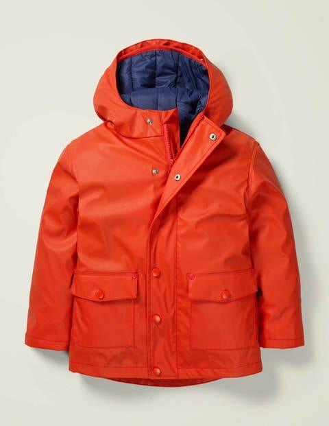 Mini Waterproof 3-in-1 Raincoat Orange Boys Boden  - Unisex - Orange - Size: 9-10y