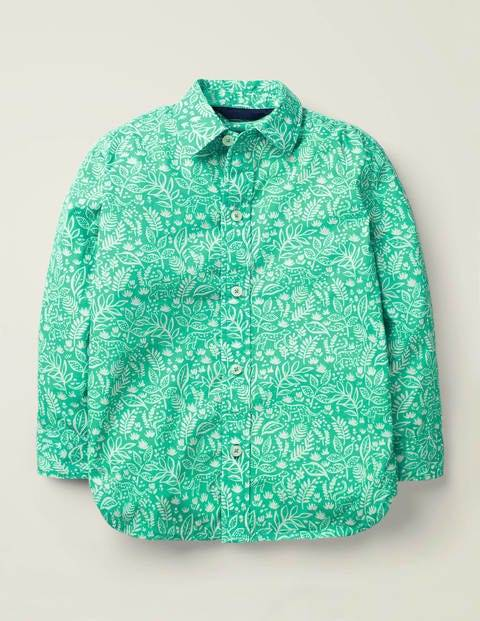 Mini Casual Laundered Shirt Green Boys Boden  - Male - Green - Size: 15-16y