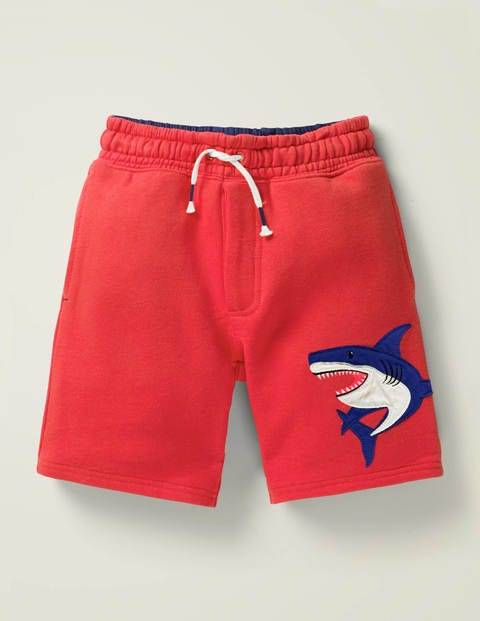 Mini Appliqué Sweatshorts Red Boys Boden  - Male - Red - Size: 12y
