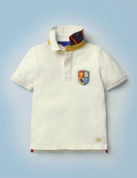Mini Hogwarts Heritage Rugby Shirt Ivory Boys Boden Jersey Size: 11-12y