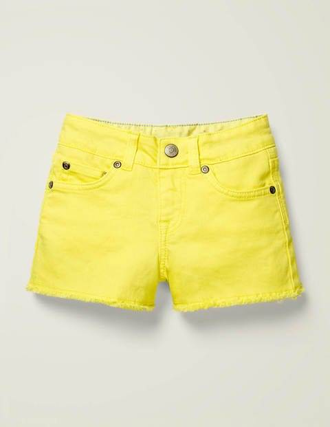 Mini Denim Shorts Yellow Girls Boden  - Female - yellow - Size: 15y