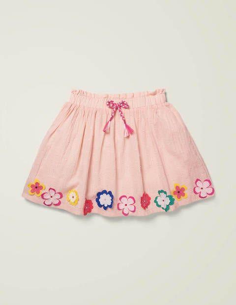 Mini Hula Flutter Skirt Pink Girls Boden  - Female - Pink - Size: 7-8y