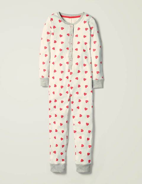Mini Cosy All-in-one Pyjamas Ivory Girls Boden  - Female - Ivory - Size: 14y