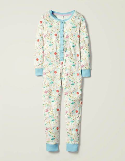 Mini Cosy All-in-one Pyjamas Ivory Girls Boden  - Female - Ivory - Size: 15y