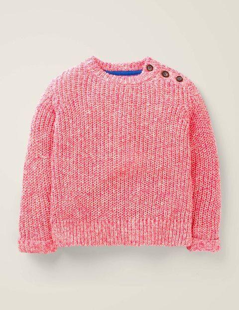 Johnnie b Nautical Jumper Pink Girls Boden  - Female - Ivory - Size: 13-14y