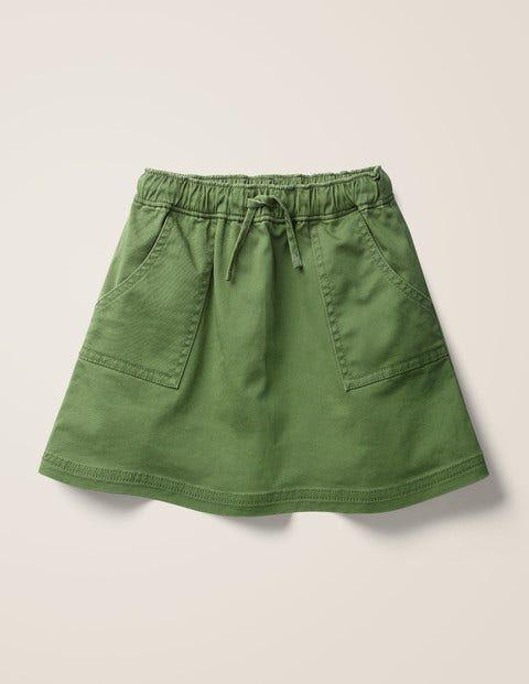 Mini Utility Skirt Green Girls Boden Cotton Size: 7-8y