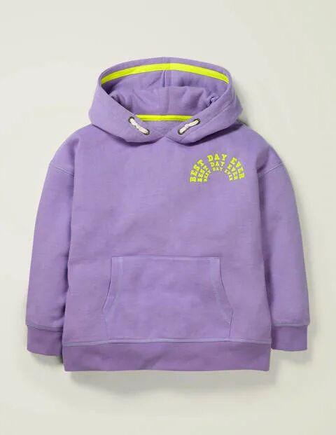 Mini Best Day Ever Cosy Hoodie Purple Girls Boden  - Female - Purple - Size: 2-3y