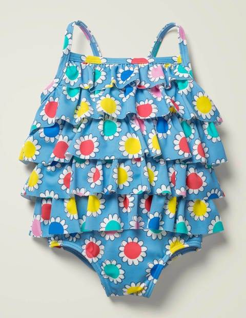Baby Frilly Swimsuit Multi Baby Boden  Size: 12-18m