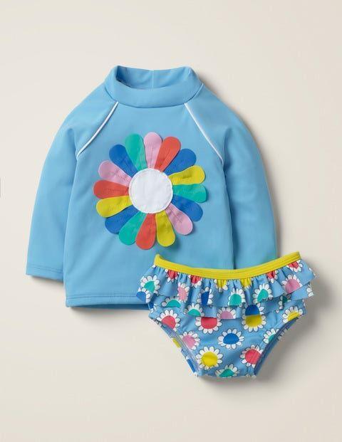 Baby Appliqué Rash Vest Set Blue Baby Boden  - Unisex - Blue - Size: 12-18m