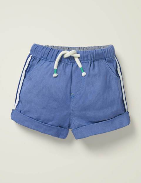 Baby Woven Pull-on Shorts Blue Baby Boden  Size: 0-3m