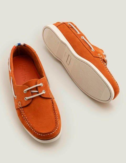 Boden Boat Shoes Orange Men Boden  - Male - Orange - Size: 41