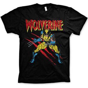 8Ball T-Shirts™ Sale Item - Sale Item - Marvel Comics Mens T Shirt - Wolverine Adamantium Slash - Black - Medium