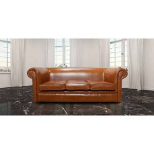 designersofas4u Chesterfield Hampton 3 Seater Settee Old English Bruciatto…