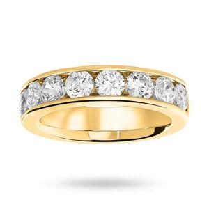 Mappin & Webb 18 Carat Yellow Gold 1.85 Carat Brilliant Cut Half Eternity Ring - Ring Size L
