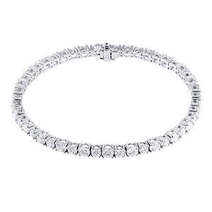Mappin & Webb 18ct White Gold 7.32ct Diamond Line Bracelet