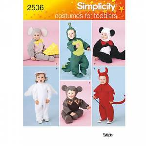 Simplicity Toddler Costumes Sewing Pattern, 2506, A
