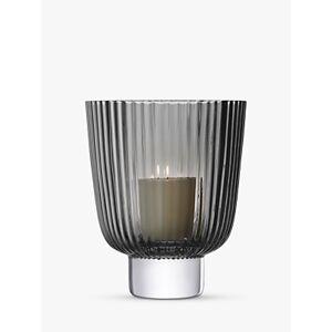 LSA International Pleat Lantern Candle Holder, Grey  - Grey