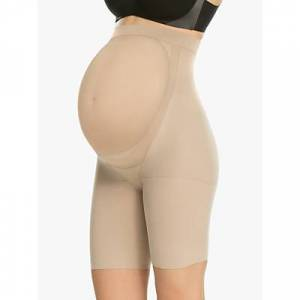 Spanx Power Mama Maternity Mid-Thigh Shaper Shorts, Nude