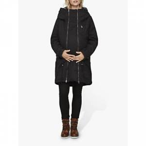 Mamalicious 3-in-1 Tikka Carry Me Padded Maternity and Beyond Jacket, Black