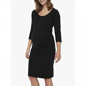 Mamalicious Lea Jersey Maternity Dress, Black