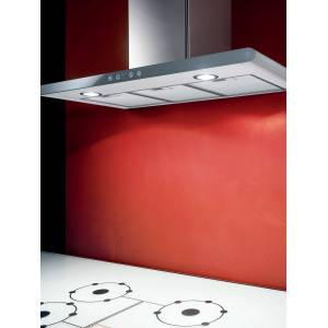 Elica Galaxy LED Chimney Hood, Stainless Steel/White Glass  - Silver