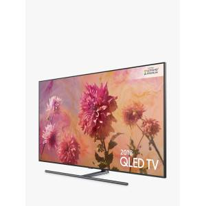 Samsung QE55Q9FN (2018) QLED HDR 2000 4K Ultra HD Smart TV, 55 with TVPlus/Freesat HD & 360 Design, Ultra HD Premium Certified, Black