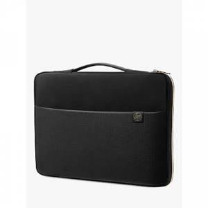 HP 17.3 Laptop Carry Sleeve, Black/Gold