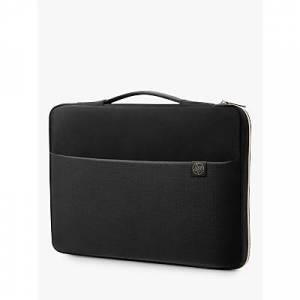 HP 15.6 Laptop Carry Sleeve, Black/Gold