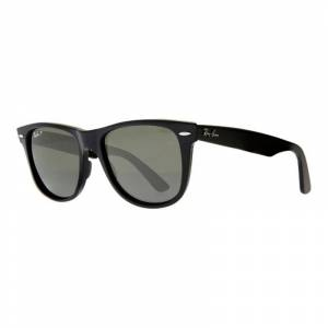 Ray-Ban RB2140 Large Polarised Original Wayfarer Sunglasses, Black  - Black