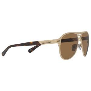 BVLGARI BV5043TK Men's Titanium Polarised Aviator Sunglasses  - Gold/Brown