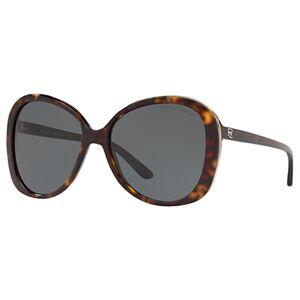 Ralph Lauren RL8166 Women's Butterfly Polarised Sunglasses, Tortoiseshell/Grey