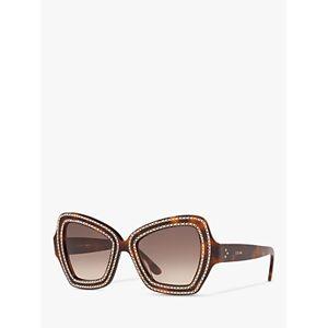 Celine CL4067IS Women's Studded Butterfly Sunglasses, Tortoise/Brown Gradient