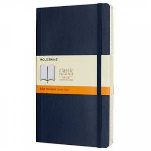 Moleskine Large Soft Cover Ruled Notebook  - Navy