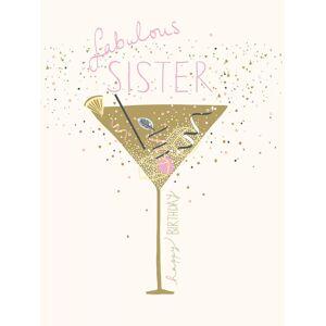 Woodmansterne Fabulous Sister Birthday Card  - Multi