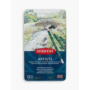Derwent Artists Pencils Tin, Set of 12