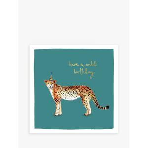 Louise Mulgrew Designs Wild Cheetah Birthday Card  - Multi