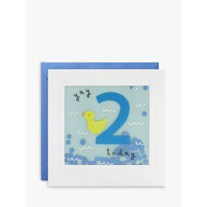 James Ellis Stevens Duck 2nd Birthday Card  - Multi