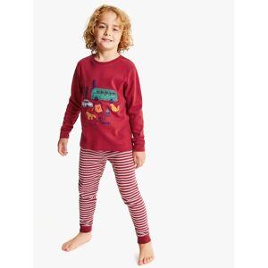 John Lewis & Partners Boys' Adventure Print Pyjamas, Pack of 2, Red/Multi