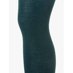 John Lewis & Partners Extra Fine Wool Rich Opaque Tights  - Teal - Size: Small