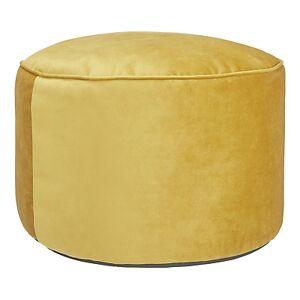 John Lewis & Partners Velvet Pouffe  - Gold
