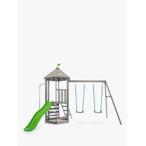 TP Toys Castlewood Double Swing Arm Tower & Slide Playhouse  - Neutrals