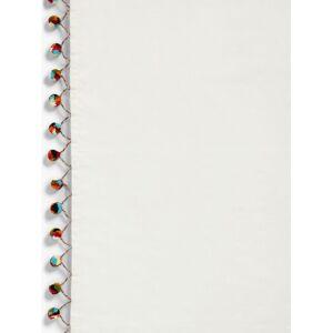 John Lewis & Partners Pom Pom Sheer Slot Top Panel  - Multi - Size: W140 x Drop 150cm