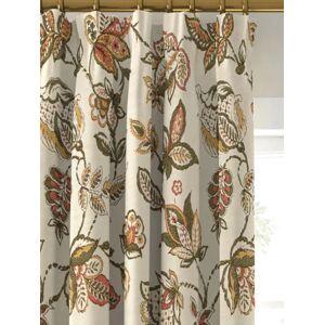 John Lewis & Partners Cordelia Floral Pair Lined Pencil Pleat Curtains, Multi  - Multi - Size: W228 x Drop 274cm