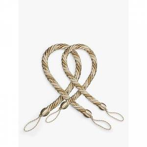 John Lewis & Partners Classic Rope Tieback, Silver  - Oyster
