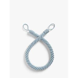 John Lewis & Partners Cotton Rope Tieback, Blue  - Mineral