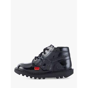 Kickers Children's Hi Boots, Black Patent  - Black - Size: 39