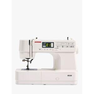 Janome M30A Sewing Machine, White  - White