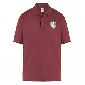 Unbranded St Francis Xavier College Sports Polo Shirt, Maroon