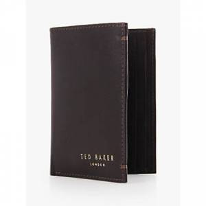 Ted Baker Zacks Credit Card Holder, Dark Brown